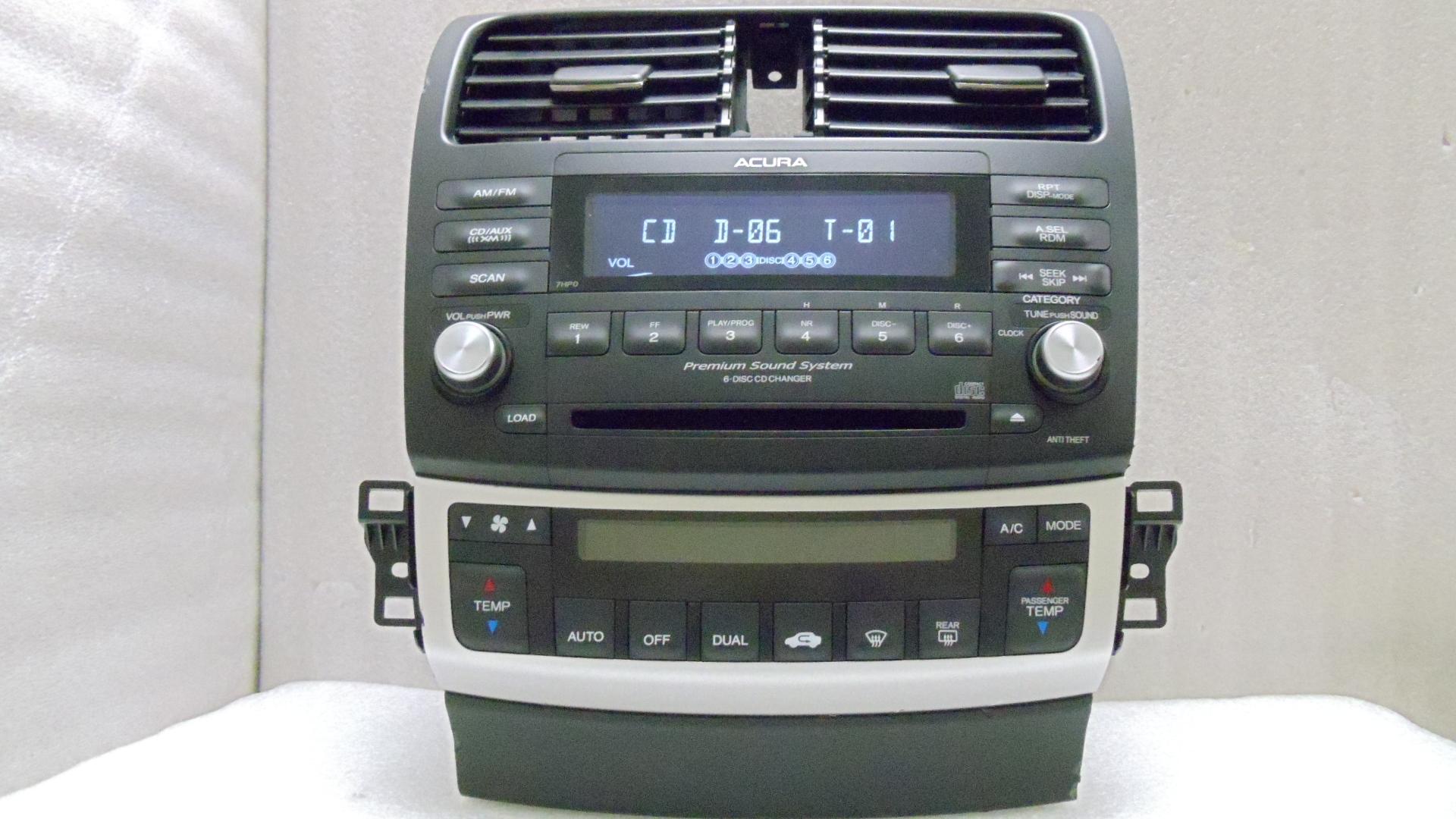 2004 2008 acura tsx radio 6 disc changer cd player 7hp0