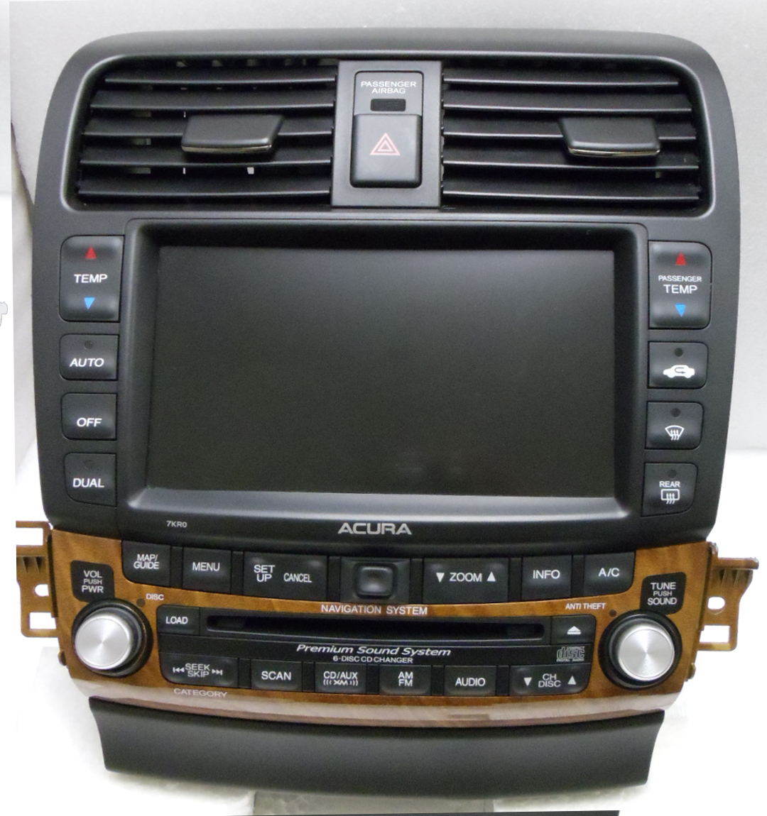acura tsx navigation gps display screen radio 6 disc. Black Bedroom Furniture Sets. Home Design Ideas
