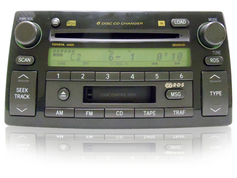 2005 2006 toyota camry jbl radio tape 6 disc cd changer 86120 aa180 05 06 ebay. Black Bedroom Furniture Sets. Home Design Ideas