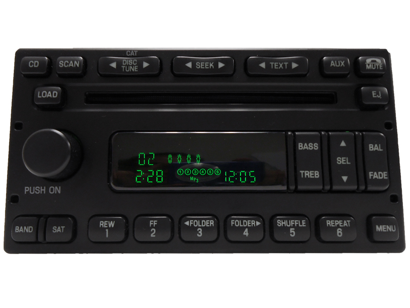 Ford Truck E150 E250 F250 F350 6 Disc Cd Player Radio Aux